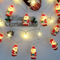 Christmas Xmas Santa Claus LED String Lights Battery Operated Lamps Room Decor