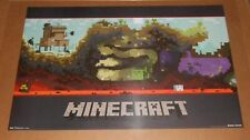 Minecraft World Poster 34x22 RARE