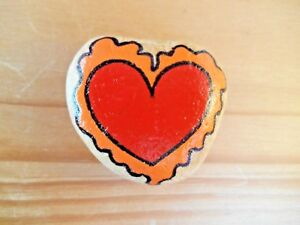 Hand painted rocks, stones, pebbles. Love heart decorative fridge magnet.