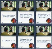Star Trek TOS Archives & Inscriptions card #77 Kang all 15 different Var