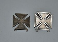 2 x WW2 US Army Marksman Qualification Badges Sterling 1/20 Silver