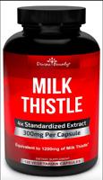 Pure Milk Thistle Capsules 4 Standardized Extract 120 Veggie Cap DIVINE BOUNTY