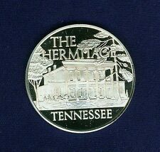 "U.S. FRANKLIN MINT 1971 ""THE HERMITAGE, TENNESSEE"" STERLING SILVER MEDAL, PROOF!"