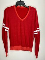 Wildfox Couture Womens Every Day Solid Stripes Pullover Sweater Red