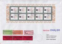 Bund Mi 1880 Kleinbogen MeF TOP Eilboten Wertbrief Otzberg - Groß Gerau 1996