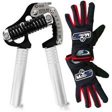GD Iron GRIP EXT90 Adjustable Hand Grip Strengthener 55-198lbs W/ MotoFit Gloves