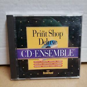 Print Shop Deluxe CD Ensemble for Macintosh Mac Custom Certificates Business