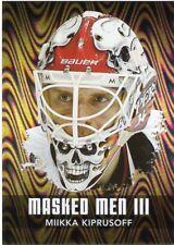 10/11 BETWEEN THE PIPES MASKED MEN III MASK SILVER #MM-36 MIIKKA KIPRUSOFF 43767