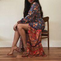 Rustic Floral Boho Crochet Maxi Dress Paisley Spell Gypsy Arnhem Anthropologie