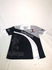 New listing Captain Morgan Graphic All Over Print Short Sleeve Polo Shirt Size Xl