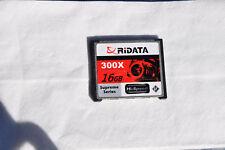 RiData Compact Flash 300X Storage SD Card Capacity 16 GB Hi-Speed Camera Memory