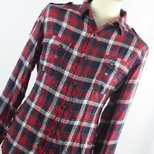 """Next 17.5""""/XL Chest Red Check Cotton Blend Casual Shirt (Regular)"""