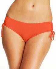 Michael Kors Bikini Bottom Sz S Grenadine Shirred Hipster Swim Pant MM78144