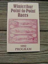 VINTAGE 1992 WINTERTHUR POINT-TO-POINT RACES OFFICIAL PROGRAM GUIDE