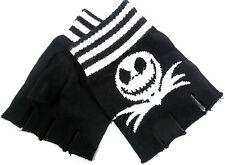 Jack Skellington Gloves Fingerless  Nightmare Before Christmas  Face + Bow Tie