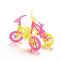 2x Bicycles Bikes Mini Toy for   Accessories Girls Birthday Gift HF