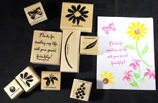 """Stampin Up 2000 """"THANKS FOR .. WITH YOUR SPECIAL FRIENDSHIP"""" Set Of 13 Stamps"""