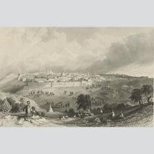 Blick auf Jerusalem vom Olivenberg aus. Um 1840