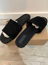NIB Asos Design Jarvis Suede Studded Espadrille Black Size 9