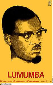Political POSTER.PATRICE LUMUMBA African President.Democratic Congo art.a28
