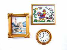 Playmobil Nostalgie Rosa Puppenhaus 1900 5300 5305 Gemälde + Uhr