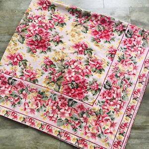 April Cornell Square Tablecloth Pink & Yellow Floral 50""