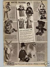 1968 PAPER AD Doll Mattel Talkers Dolittle Pushmi-Pullyu Puppet Oz Wizard Popeye