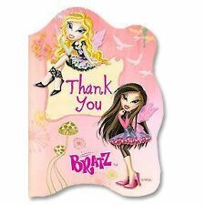 NIP Fashion Pixiez BRATZ Thank You Cards 8pk w/envelope