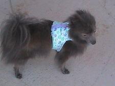 Dog Vest Harness - Butterflies Pattern - Size S