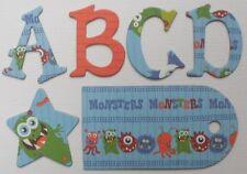 Reminisce *MONSTERS* Scrapbook Chipboard Letters Alphabet Embellishment