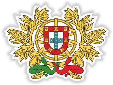 """Portugal coat of arms Sticker Bumper Vinyl Decal 2.9""""x4"""" Portuguese portugues"""
