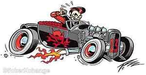 Devil Rod Sticker Decal Artist The Pizz P54