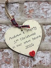 personalised christmas decoration/gift for 1st/first christmas in new home