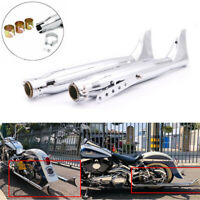 Fishtail Exhaust Silencer Mufflers Pipe For Harley Touring Motorcycle Universal