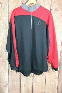 Nike Air Jordan 1/4 Zip Pullover Long Sleeve Athletic Shirt Men's L Warm-up