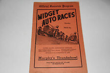 Midget Auto Races Program, California Murphy's Thunderbowl Oct 28 1946, Original