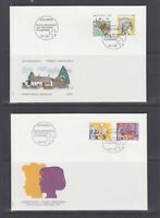 Switzerland Mi 1461/1488, 1992 issues, 8 sets on 8 cacheted official FDCs