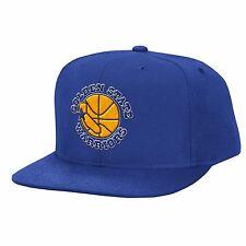 Golden State Warriors Mitchell & Ness NBA 90's Retro Logo Blue Snapback Hat Cap