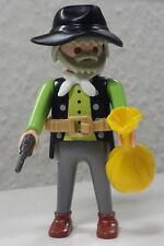 Playmobil Figur Cowboy Bankräuber Hut Gürtel Geldsack Pistole Western #6