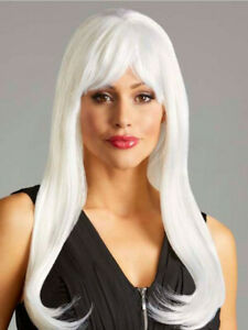 """Incognito Costume Wig Style """" DIVA """" Medium Long Straight Hair with Bangs - NEW!"""