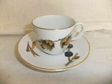 Unboxed Coffee Cup & Saucer British Royal Worcester Porcelain & China