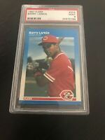 ⚾️ BARRY LARKIN 1987 FLEER RC #204 PSA 9 MINT CINCINNATI REDS HOF ⚾️