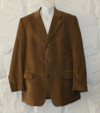 Tan Corduroy COMMANDER Tailored Fit Hip Length Casual Jacket Blazer Size 52