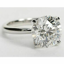 3CT Charles and Colvard DEF Forever One Moissanite Solitaire Ring 14K White Gold