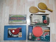 Vtg Wooden PING PONG SET paddles pamphlet Table Tennis ProfessionalTournament