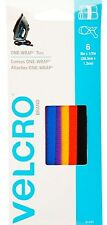 """6 Cable & Cord ONE WRAP TIES hook loop Multi Color 8"""" x 1/2"""" Nylon VELCRO 91230"""