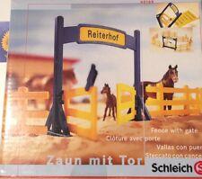 Schleich farm life Pferde Reiterhof Zaun Tor FENCE WITH GATE horse 40168 Neu OVP