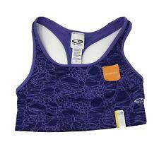 C9 Champion Women's Purple Medium Support Reversible Sports Bra Size Small NEW