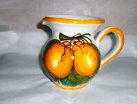 Brocca da 0,500 lt   in ceramica Sorrentina disegno limoni altezza cm. 13
