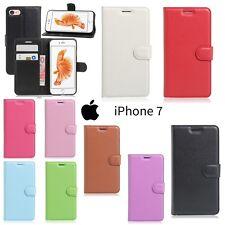Coque Housse Etui Porte cartes Cuir PU Wallet Case Cover Shell iPhone 7 ou 8